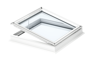 VELUX - CVP 080080 0673QV - Elec. flat roof window, laminated inner pane, PVC construction, 80x80