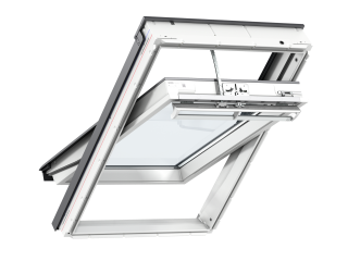 VELUX - GGU UK04 006621U - Maintenance free, elecINTEGRA PU C/P, triple glazed, anti-dew, 134x98