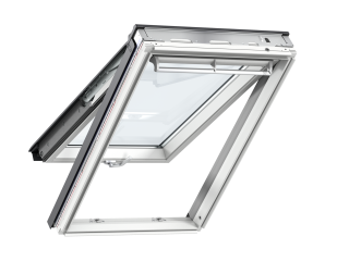 VELUX - GPL UK04 2060 - White-Painted Pine top-hung RW, easy clean+ENR glazing, 134x98