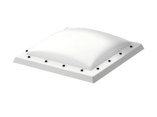 VELUX - ISD 090120 0110 - Opaque PC dome top for FRW, scratch resistant, 0-15 degrees,90x120